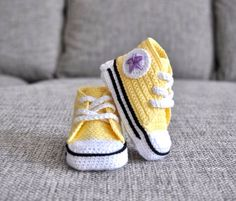 Crochet baby sneakers. Crochet shoes by UgglaLand on Etsy, $45.00