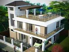 Marvelous Rooftop Design, Deck Design, House Design, Rooftop Deck, Terrace, 2 Storey