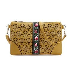 Mara's Dream Floral Small Women Bags Leather Evening Messenger Bag Retro Hollow Out Envelope Bag Ladies Crossbody Shoulder Bag