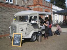 truck converted to a small coffee stand