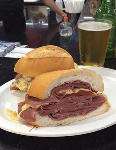 Mortadella Sandwich from the municipal mercado or São Paulo. ☺️
