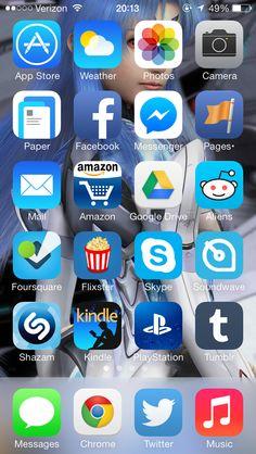 iPhone Home Screen iOS Pinterest Screens, Phone and