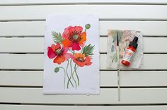 Oana Befort // Poppy no3 - original watercolor illustration