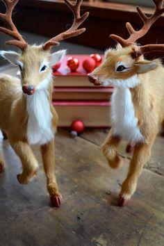 Vintage Deer Figures  Holiday Decor  Vintage by TimberAndTwine, $42.00