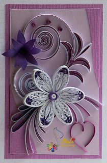 Quilled Card - by Neli Quilling