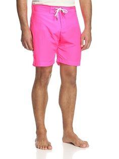 70% OFF Parke & Ronen Men's Solid Boardshort (neon pink)