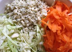 I made my typical coleslaw dressing and added some bleu cheese. Cabbage Salad Recipes, Veggie Recipes, Wine Recipes, Yummy Recipes, Yummy Food, Ina Garten Coleslaw Recipe, Coleslaw Recipes, Blue Cheese Coleslaw, Coleslaw Dressing
