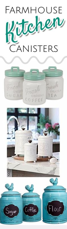 Farmhouse style canister sets - farmhouse kitchen decorating ideas