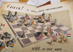 Humour and talent: Archibald Sulston's satirical take on the Allies defeating Hitler through a game of chess