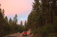 """nuhstalgicsoul: """" The moon kept us company on our drive through the mountains """" Beautiful World, Beautiful Places, The Last Summer, Summer Aesthetic, Pics Art, Plein Air, Belle Photo, Film Photography, Van Life"""