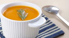 Roasted Pumpkin And Pear Soup by Laurel Evans via finedininglovers #Soup #Pumpkin #Pear