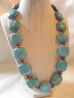 Turquoise and Jade Necklace - amalia Bead Jewellery, Beaded Jewelry, Jewelery, Jewelry Necklaces, Handmade Jewelry, Beaded Bracelets, Jade Necklace, Diy Necklace, Gemstone Necklace