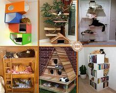pet beds - cats or dogs Crazy Cat Lady, Crazy Cats, Cat Perch, Cat Condo, Cat Room, Ideas Geniales, Pet Furniture, Cat Crafts, Wood Crafts