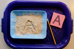 Montessori - Writing - Sandpaper Letters & Tracing