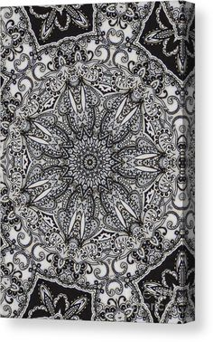 00544 Canvas Print featuring the digital art 00544 by Aileen Griffin
