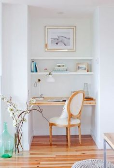 this home office is the perfect balance between elegant and modern.