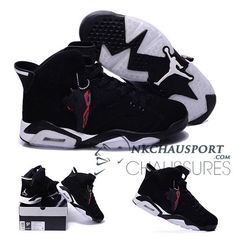 brand new b5ca2 8f84a Authentic Cheap Air Jordan 6 Shop with Confidence white logo black all shoe  for Authentic Cheap Air Jordans 6 vi basketball sneaker hot sale