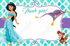 Welcome to Papel Pintado if you don t see what you are looking for please contact me about creating something special just for you This listing is for a PRINTABLE Aladdin Birthday Party, Birthday Party Invitations, 5th Birthday, Jasmine Party, Disney Princess Jasmine, Disney Cards, Free Thank You Cards, Princesas Disney, Printable Invitations