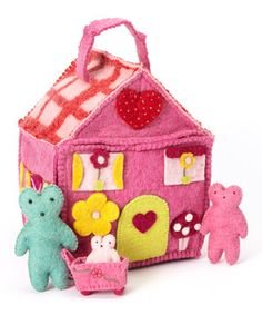 Combining unique Danish design with traditional hand-made quality, kids will love filling up this adorable felted house with their sparks of imagination.