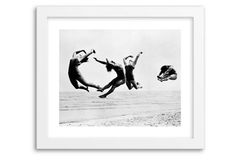 Beach Exercise, 1935, Mini. reminds me of a ballet practice photo my late Father -in Law snapped about that same year.