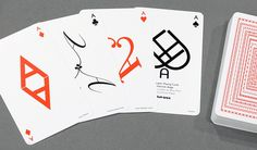 Typography Playing Cards by hat-trick design | MONOQI