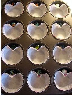 add a marble to make heart shaped cupcakes