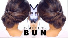 Hair tutorial: how to do a quick& easy bun hairstyle for everyday for long or medium hair.