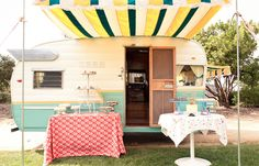 This company is using their travel trailer as a mobile cupcake shop. How cool!
