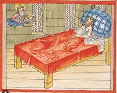 Bibel AT, dt.: Könige, Paralipomenon I und II, Esra, Tobias, Judith, Esther, Hiob — Stuttgart (?) -  Werkstatt Ludwig Henfflin, 1477 Cod. Pal. germ. 17 Folio 132v