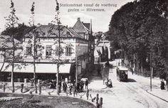 Gooise stoomtram - Gooische moordenaar - stationstraat rond 1900