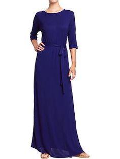 Women's Jersey Tie-Belt Maxi Dress (Bright Nite). Old Navy. $36.94