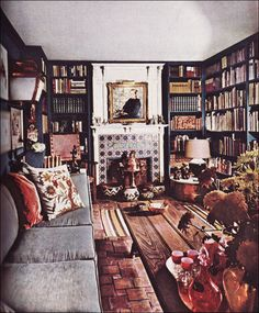 1963 Cluttered Library