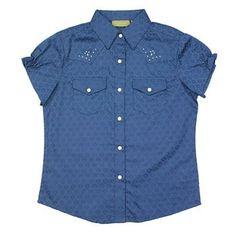 Wrangler Girl's Premium Patch Short Sleeve Shirt