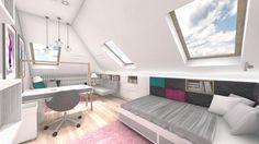 Wystrój wnętrz - Pokój dziecka dla dziewczynki - pomysły na aranżacje. Projekty… Bedroom Ideas, Furniture, Design, Home Decor, Decoration Home, Room Decor, Home Furnishings, Home Interior Design