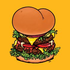 Assburger hamburger design (available on @TeePublic) inspired by a scene from the show Community, when Troy (Donald Glover) mishears Jeff (Joel McHale) when he says Abed (Danny Pudi) has Asperger's. This image stuck in my head ever since I saw it first and I now made it into a T-shirt design. Hope you like it. Bon appétit! Baschz