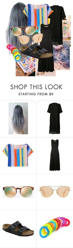 """Birks and braids"" by jenny-schlief-morgan on Polyvore featuring Raquel Allegra, Mara Hoffman, Valentino, Miu Miu and Birkenstock"
