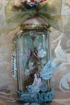 captured Fairy in Glass Jar