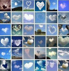 heart clouds..