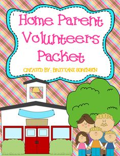 Classroom Management: Starter Packet for Parent Volunteers from Home http://www.teacherspayteachers.com/Store/MadForKinder