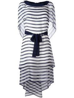 ALBERTA FERRETTI striped sheer dress. #albertaferretti #cloth #dress