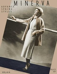 Spring Styles for ladies; coat, dresses, twin set, sweater & skirt suits  Vintage Knitting Patterns Book for download Sizes 16-18