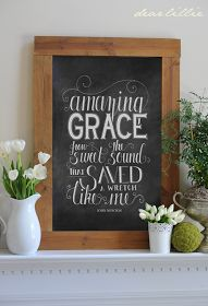 We finally have the Amazing Grace chalkboard prints available in our shop! I actually drew this one back when we were still at our old ...
