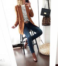 Du marine pour changer un peu du noir associé au camel 🙂 #outfit #ootd #tenuedujour #mode #fashion #fashionstyle #casual #fashionblogger… 30 Outfits, Casual Work Outfits, Business Casual Outfits, Mode Outfits, Work Attire, Office Outfits, Work Casual, Fall Outfits, Fashion Outfits