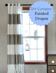 DIY Curtains Painted Drapes by The Colored Door
