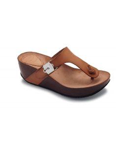 Scholl EDNA 1.2 - hnědé módní pantofle