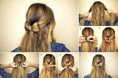 Bow tie half up do