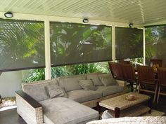 What a beautiful space. Outdoor blinds help to create the desired living environment. Calm the view by cutting down the glare D&R Sunshades Call us 1300 799 944 Indoor Blinds, Patio Blinds, Diy Blinds, Bamboo Blinds, Fabric Blinds, Curtains With Blinds, Blinds Ideas, Bay Window Blinds, Vertical Window Blinds
