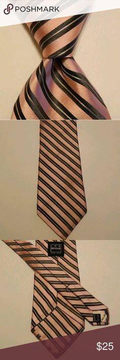 Ike Behar Pink Fancy Medallion Tie