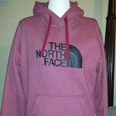 100% Authentic North Face Hoody NWOT My man bought this for me knowing I've been wanting a red the north face hoodie but all they had at the stores was this off red and it's a Men's size small so converts to a women's large maybe medium! No stains or wear cause I've only used this once or more like just try on in the house! North Face Jackets & Coats