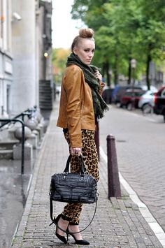 Leopard pants done right